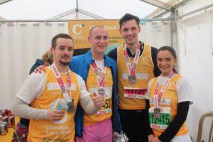 Parks Marathon Team Win Medals