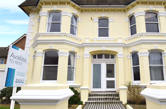 example property to let in hove with bay windows