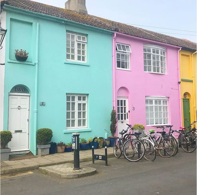 brightly painted house exteriors