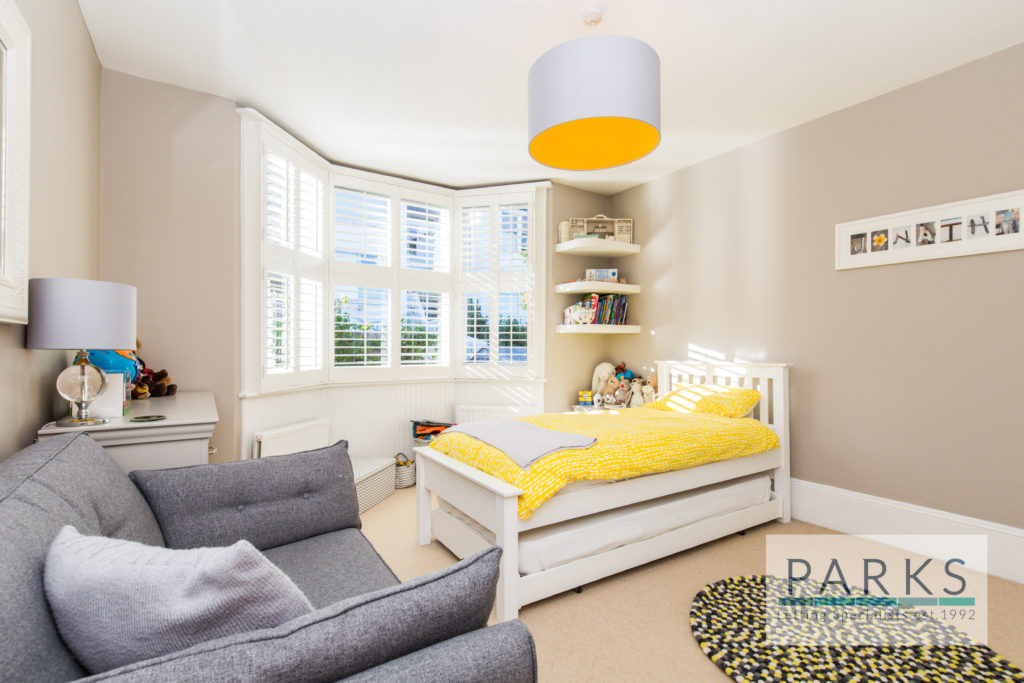 Bright bedroom in terraced house